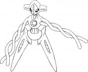 Coloriage 386 Deoxys pokemon forme alternative