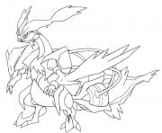 Coloriage 646 Kyurem blanc pokemon forme alternative