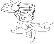 Coloriage 648 Meloetta Pirouette pokemon forme alternative
