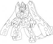 Coloriage 718 Zygarde Forme parfaite 100 pokemon forme alternative