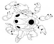 720 Hoopa dechaine unbound pokemon forme alternative dessin à colorier