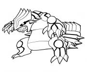 Coloriage legendaire pokemon emeraude rouge