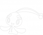 Coloriage Manaphy pokemon legendaire