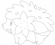 Coloriage Shaymin sous forme naturelle pokemon legendaire