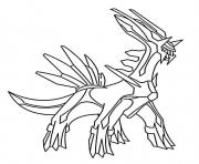 Coloriage dialga pokemon legendaire
