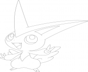 Coloriage Victini pokemon legendaire