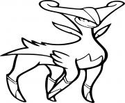 Coloriage pokemon legendaire shiney