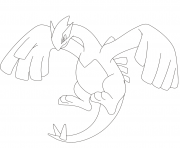 Coloriage Lugia pokemon legendaire