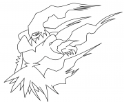 Coloriage darkrai pokemon legendaire