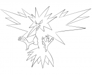 Coloriage Electhor pokemon legendaire