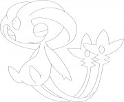 Coloriage uxie pokemon legendaire