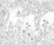 Coloriage adulte nature zen anti stress