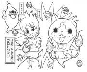Coloriage dessin a colorier yo kai watch 1