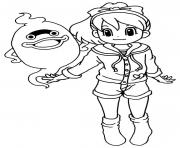 Coloriage yokai watch katie whisper