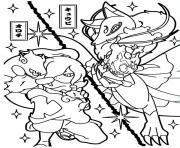 Coloriage yokai watch a combat battle