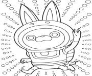 Coloriage yokai watch salut clipart