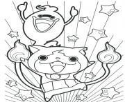 yokai watch tres joyeux dessin à colorier