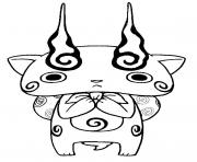 Coloriage yo kai watch 2 komasan