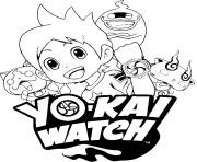 Coloriage yo kai watch 3 logo