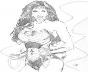 Coloriage wonder woman super heros 2017