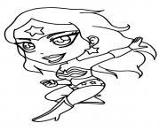 Coloriage mini cute wonder woman bebe