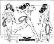 Coloriage superhero wonder woman adulte dc comics dessin