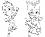 Coloriage Pajama Hero Connor est Yoyo de Pyjamasques