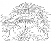 Coloriage dragon ball z sangoku super sayen 10 manga dbz