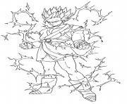 Coloriage dragon ball z sangoku super sayen 5