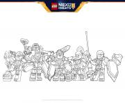 Coloriage lego nexo knights Formation line boucliers