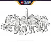 Coloriage lego nexo knights Formation