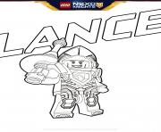 Coloriage lego nexo knights Lance