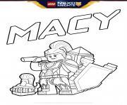 lego nexo knights bouclier Macy dessin à colorier