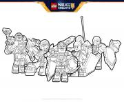 Coloriage lego nexo knights Formation boucliers