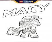 lego nexo knights Macy dessin à colorier