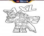 lego nexo knights bouclier Axl dessin à colorier