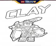 lego nexo knights bouclier Clay dessin à colorier
