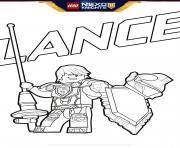 lego nexo knights bouclier Lance dessin à colorier