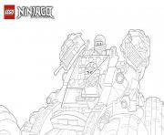 Coloriage Ninjago en feu dessin dessin