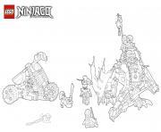 Coloriage dragon ninja attaque ennemis lego  dessin
