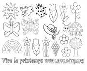 Coloriage De Printemps Primaire.Coloriage Printemps A Imprimer Gratuit Sur Coloriage Info