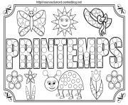 Coloriage Printemps Tableau A Colorier Et Pour Gommettes Tableau