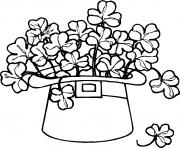 saint patrick hat 2 dessin à colorier