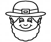 Coloriage this black and white cartoon leprechaun face clipart illustration