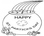 Coloriage happy saint patrick 2