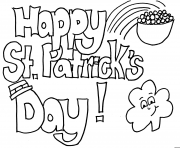Coloriage interesting saint patrick happy