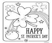 saint patrick dessin à colorier
