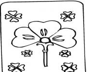 Coloriage shamrock card saint patricks day