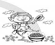 lucky day saint saint patrick dessin à colorier