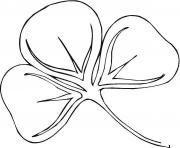 Coloriage shamrock saint patricks day